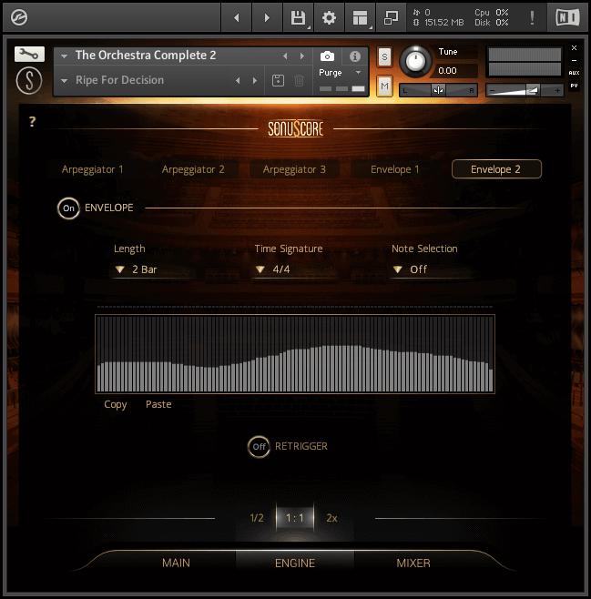 orchestra vst user interface velocity envelope