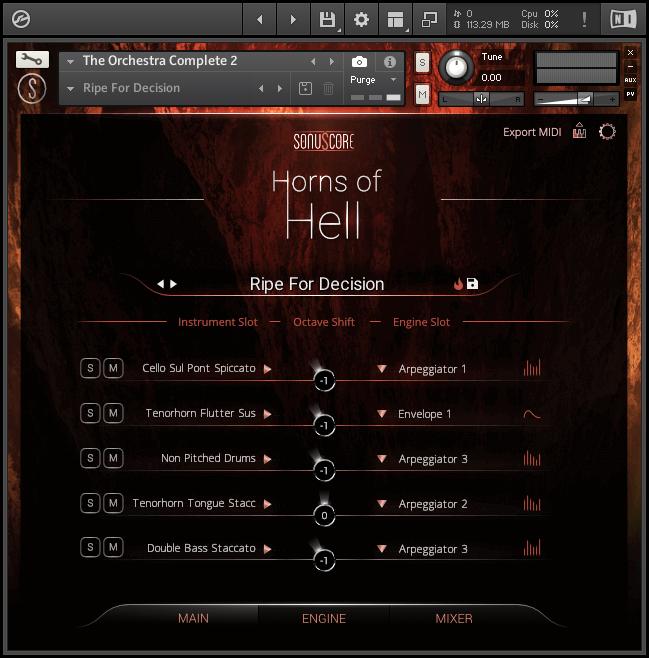orchestra vst interface design