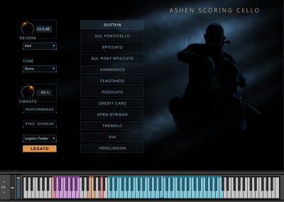 Ashen Scoring Cello GUI Screenshot