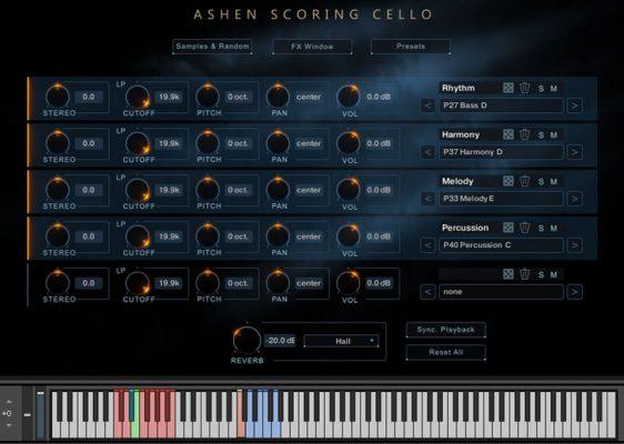 Ashen Scoring Cello GUI Screenshot