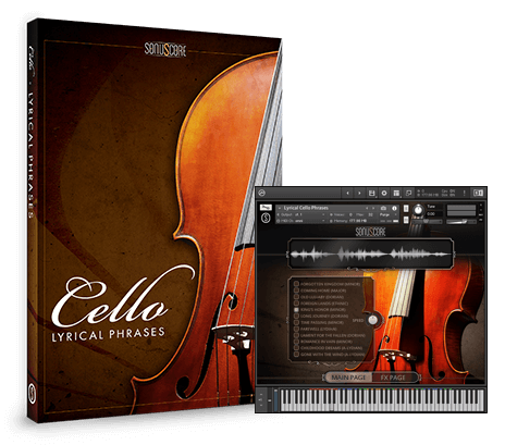 Lyrical Cello Phrases Packshot incl GUI