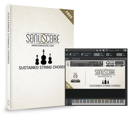 Sonuscores Sustained String Chords Packshot incl GUI