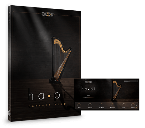 hapi Concert Harp product packshot incl GUI
