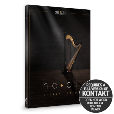 hapi concert harp product packshot incl kontakt badge