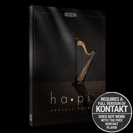 hapi concert harp product packshot incl kontakt badge