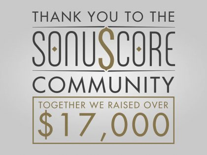 Sonuscore finishes fundraiser for WHO and Save The Children