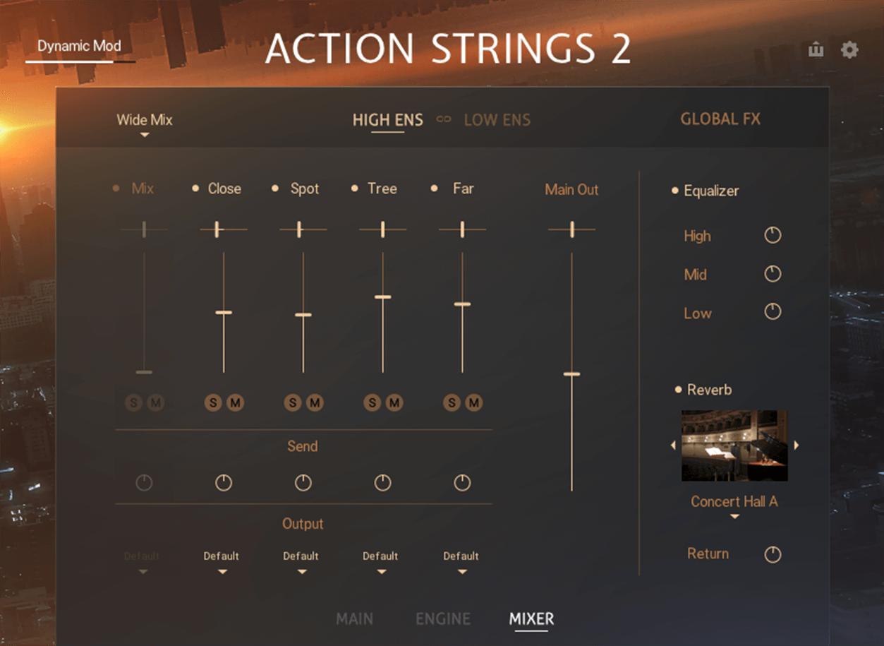 Sonuscore Native Instruments Action Strings 2 Screenshot Mixer Page