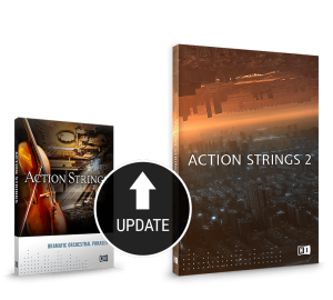 Action Strings 2 VST Instrument Update Packshot by Sonuscore and Native Instruments