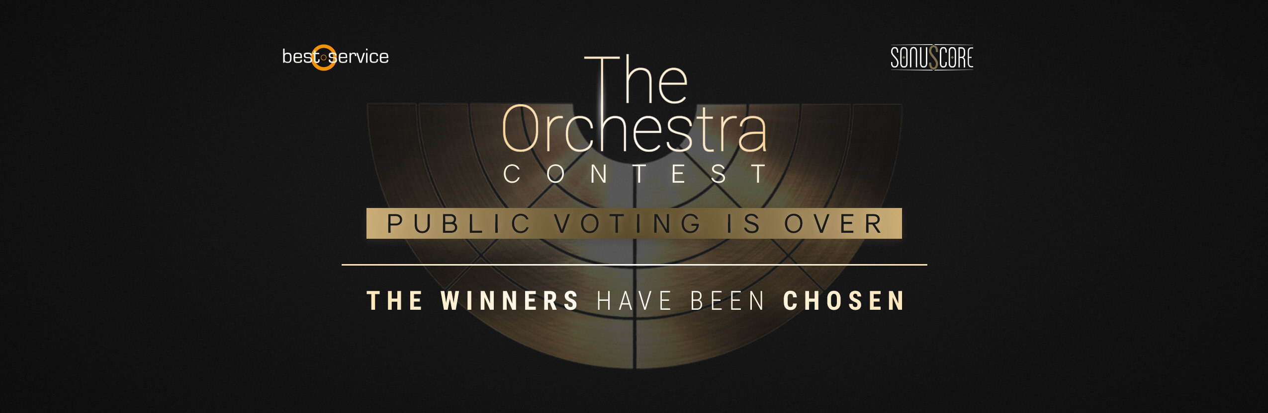 The Orchestra Contest Website Banner End