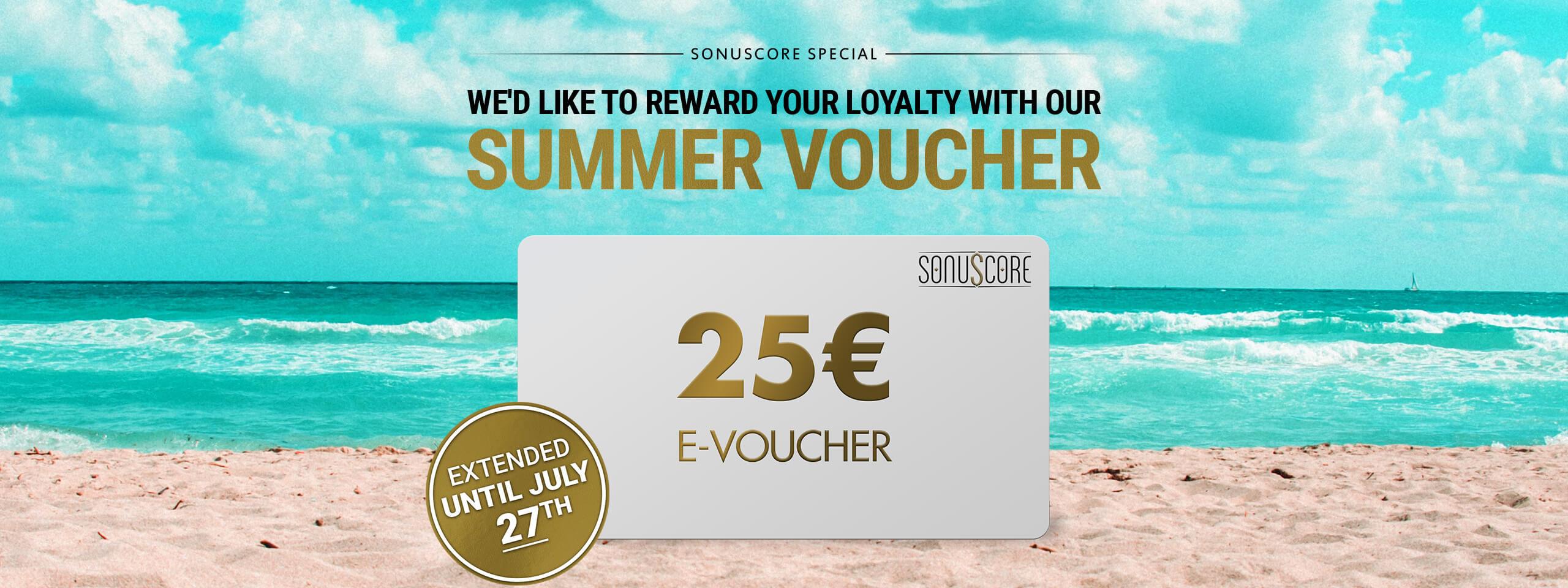SONU 25Euro Summer Voucher Landingpage Slider Extended