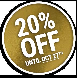 20 Percent Badge